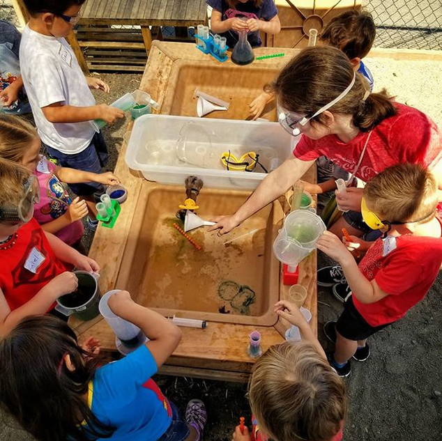 Super Hero Camp was sooo much fun! Here's a glimpse of our last outdoor super hero science lab! Bruce Banner would be proud.jpg