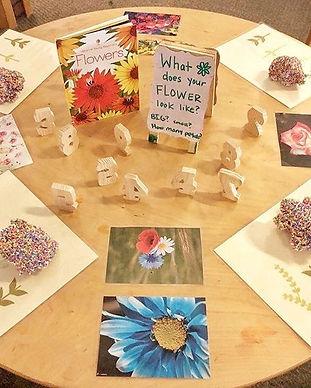 Flower design in our Preschool Pop Up pr