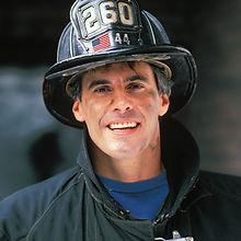 Fireman with Dark Uniform