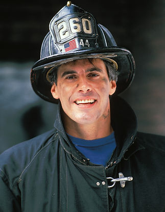 Fireman with Dark Uniform
