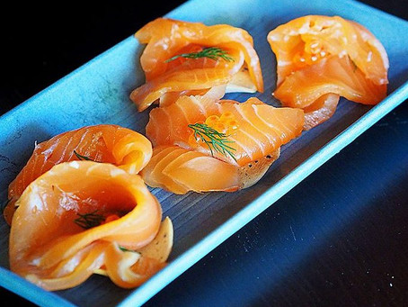 Whisky Cured Salmon with Orange and Brown Sugar