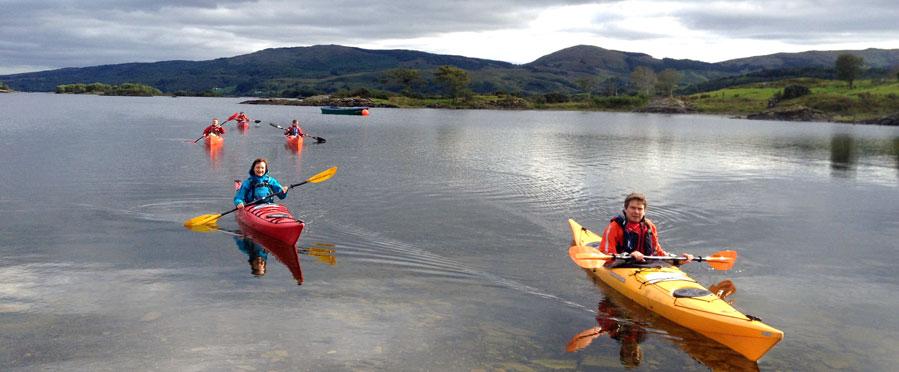 Kayaks in Donegal Bay