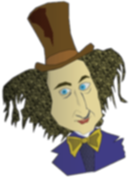 willy wonka character illustration