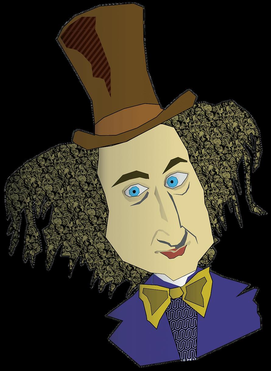 willy wonka character illustration