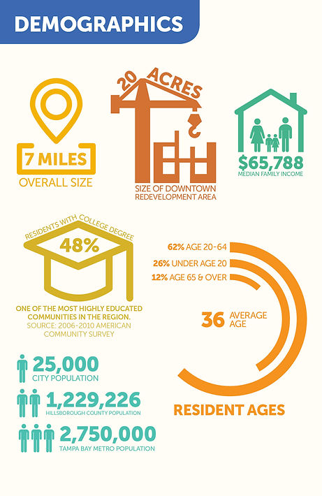 Temple Terrace Florida demographics infographic