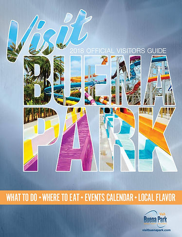 buena park visitors guide cover concept