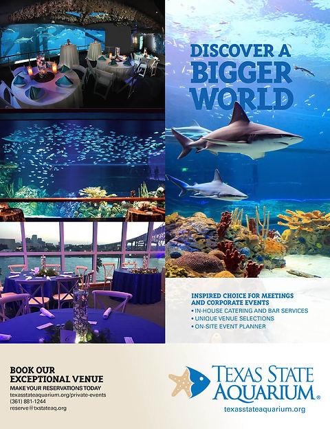 Texas State Aquarium advertisement
