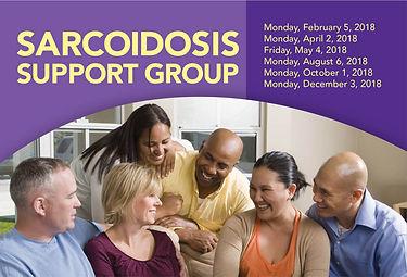 sarcoidosis support group postcard