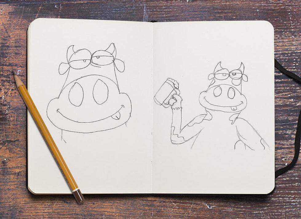 drunken cow sketch