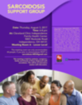sarcoidosis support group flyer