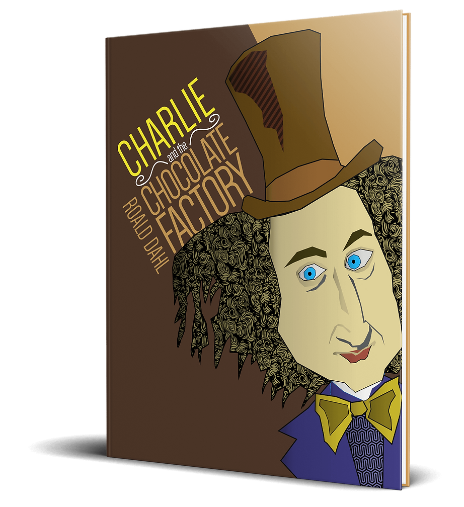 Charlie and the Chocolate Factory book cover mock up