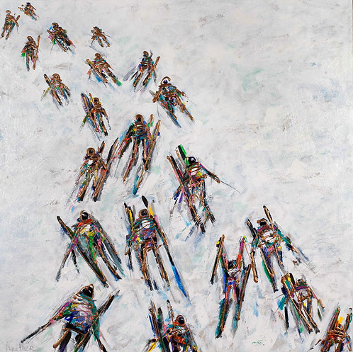#360_Abstract Skiers Downhill