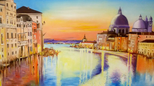SUNSET ON CANAL GRANDE-VENICE