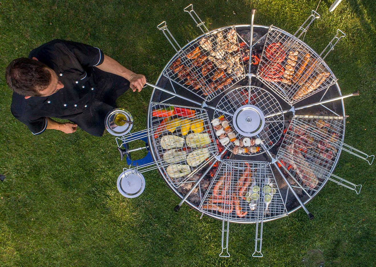 GiraBrace. Grigliata mista di carne, pesce e verdure