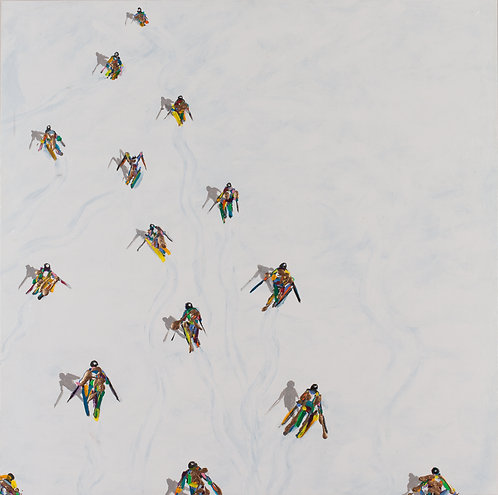 #333_Colorful Skiers with Gold