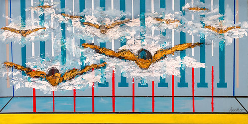 #149_Swimmers in Abstract Pool