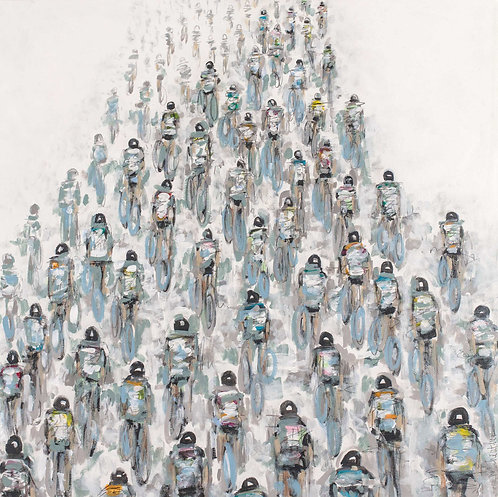 #415_Soft Colored Cyclists with Wheels