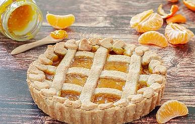 Crostata integrale con marmellata di mandarini