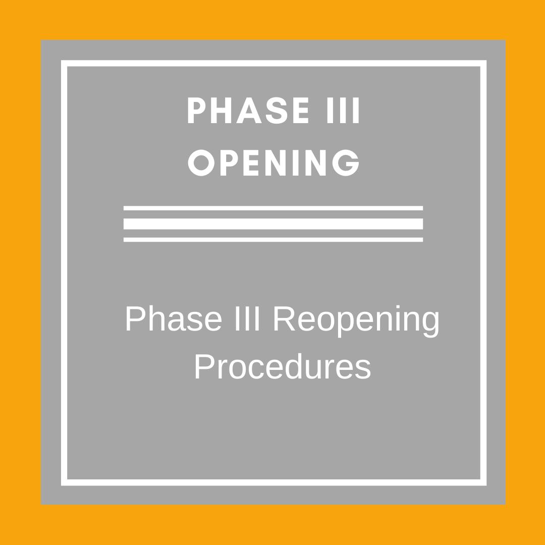 Phase III Opening