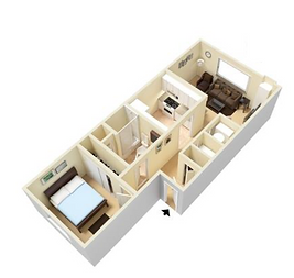 Fort Lane One bed.PNG