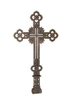 Чугунный литой крест (металический)