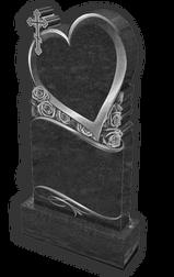 памятник сердце с гравировкой