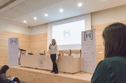 Presentadora evento Google WomanTech