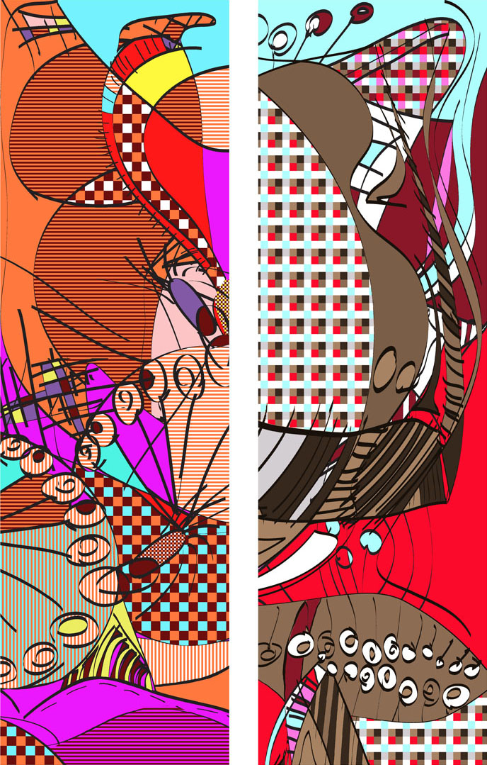 colorful diptych
