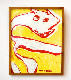 Red Dog in Yellow Space