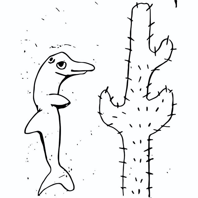 Cactus and Dolphin 🐬🌵