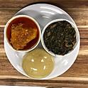 Fufu, Vegetable & Khati Khati (Sunday Special)