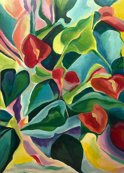 Flamingo Lilies abstract.jpg