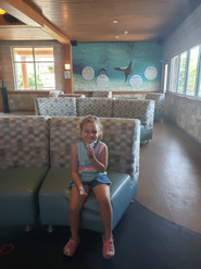 One of our own! Project Manager, Alaine, took her daughter, Adrianna, to Turtleback Zoo and had to snap a shot on our beautiful seats!