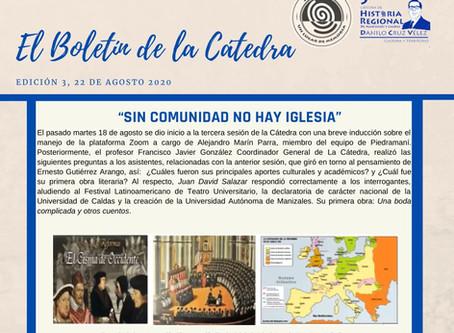 BOLETÍN DE LA CÁTEDRA, EDICIÓN 3