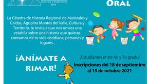 CONVOCATORIA DE POESÍA INFANTIL. TRADICIÓN ORAL