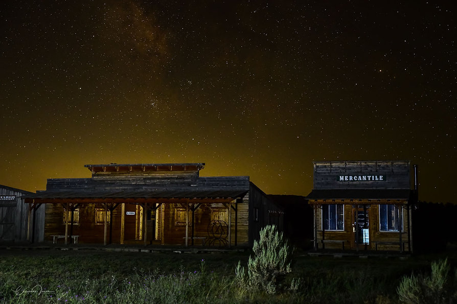 Ghost towns and neowise r The Mercantile