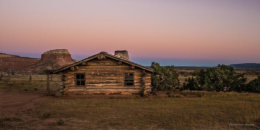 Cabin sunset Days Gone By r-0853.jpg