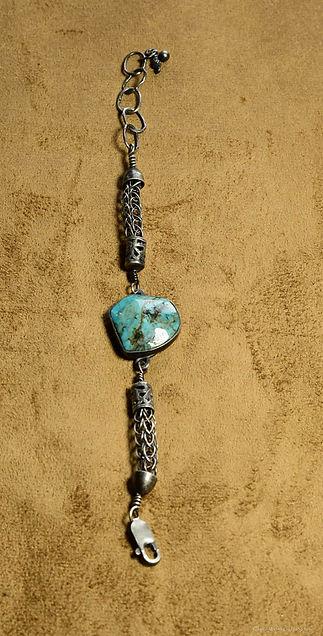 Folks on the Edge turquoise bracelet-844