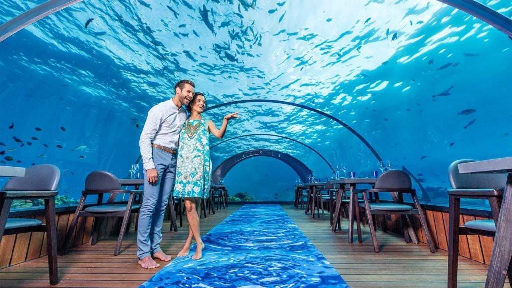HURAWALHI, MALDIVES - Host to Worlds Largest All-Glass Undersea Restaurant