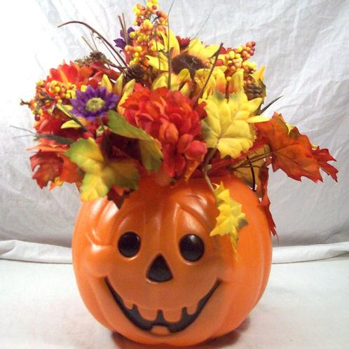 Fall Flowers-Pumpkin