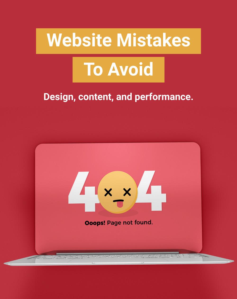 18 Website Mistakes To Avoid