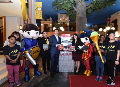 Launch of the Faber-Castell Castle Heroes Display.