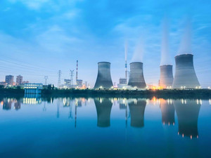 Why are power plants built near water?