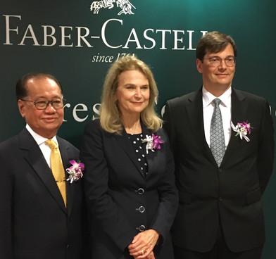 (L-R) Dr. Toh Yan Peng, Countess Mary Von Faber-Castell, Mr. Daniel Rogger.