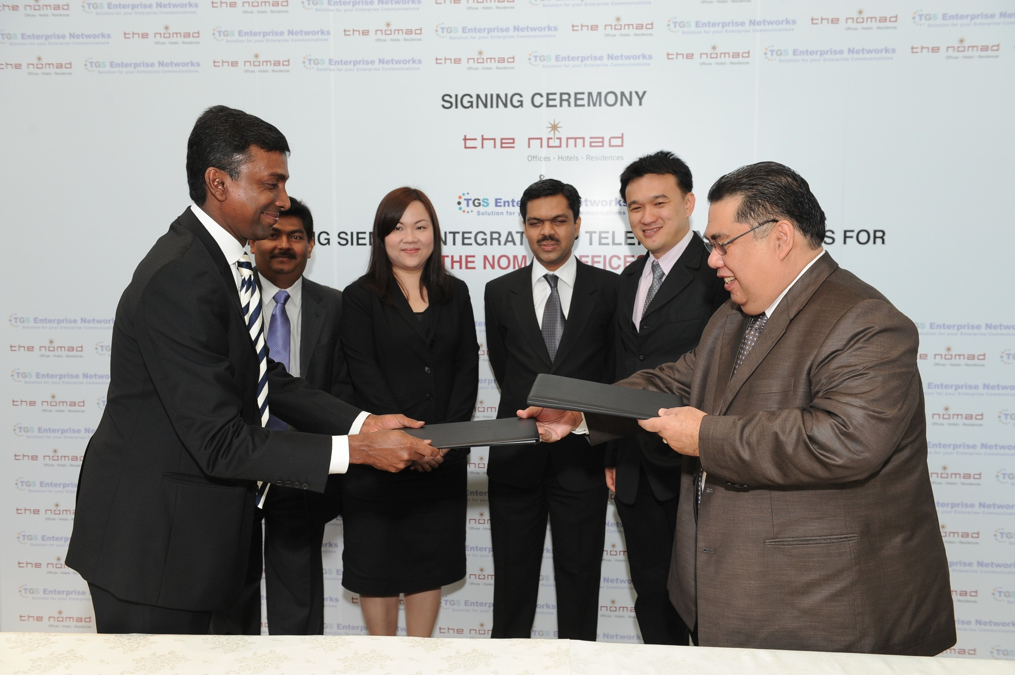 Exchange of Documents between The Nomad Group Berhad and TGS Enterprise Networks Sdn Bhd