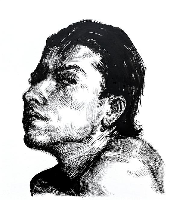 Handsome Faces 128 (Rough Brush Series)