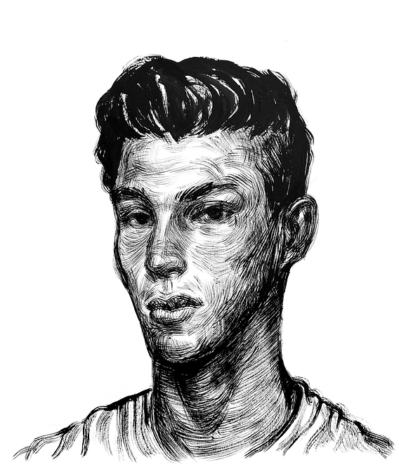 Handsome Faces 136 (Rough Brush Series)