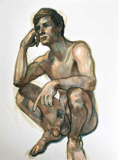 Crouching Man 2