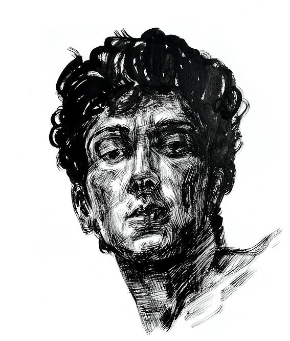 Handsome Faces 129 (Rough Brush Series)