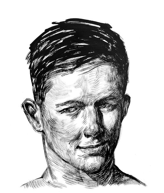 Handsome Faces 133 (Rough Brush Series)